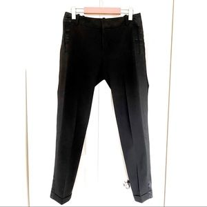 Zara Black Suit Pants w/Satin Effect Side Band 🖤